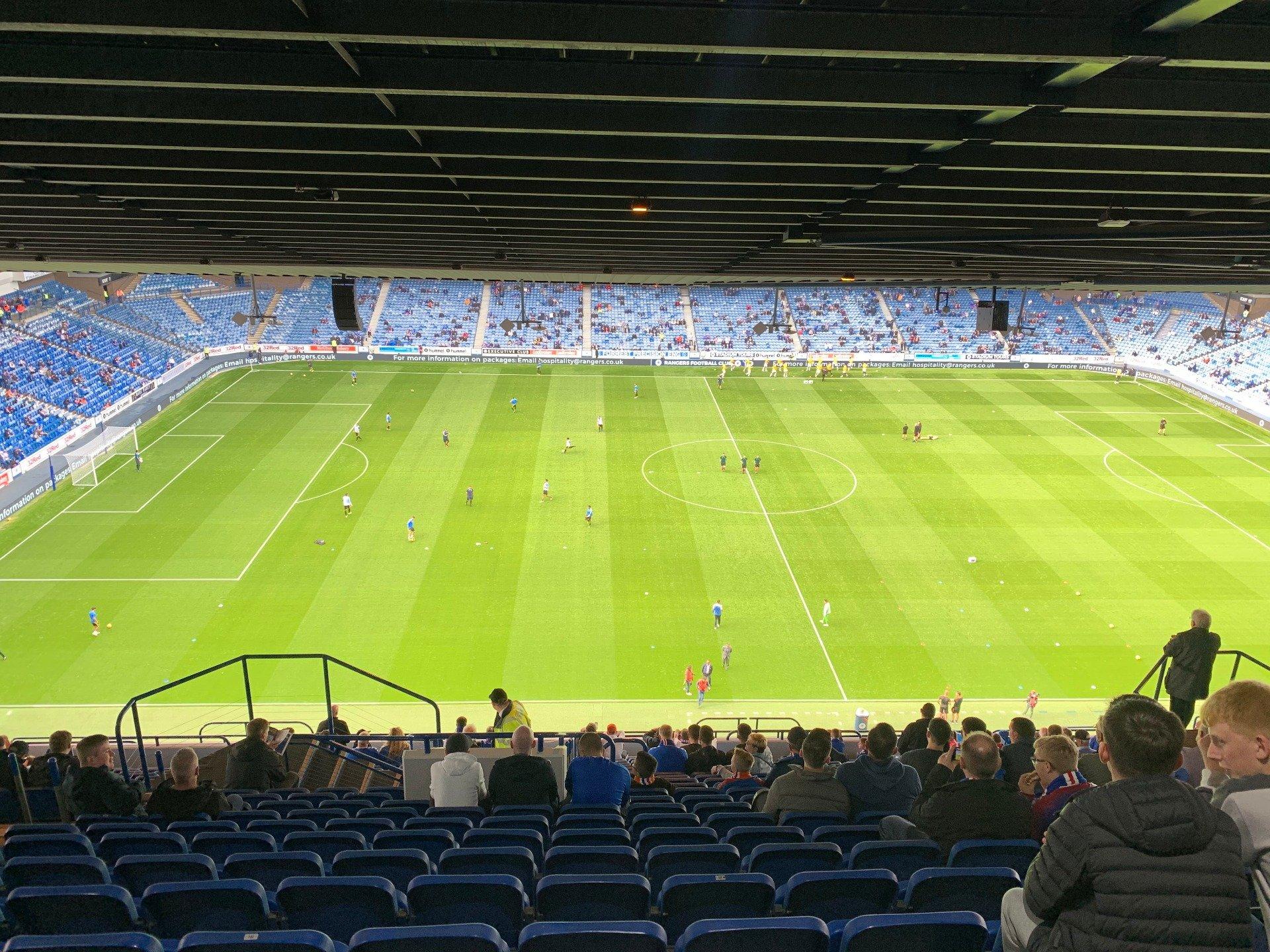 Ibrox Stadium Section CD4 Row AA Seat 192