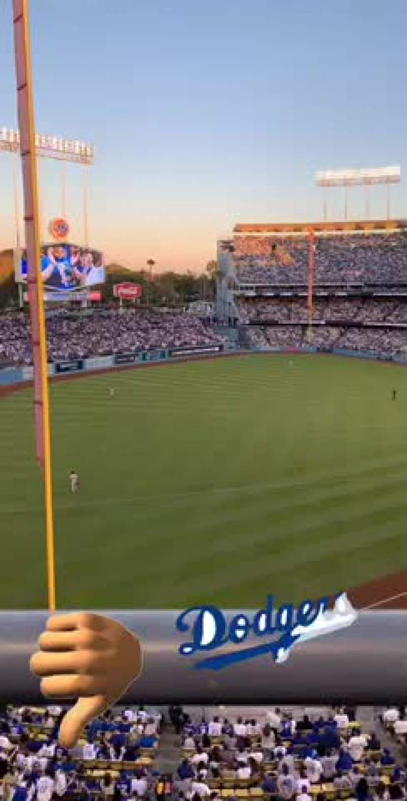 Dodger Stadium Section 47RS Row A Seat 6