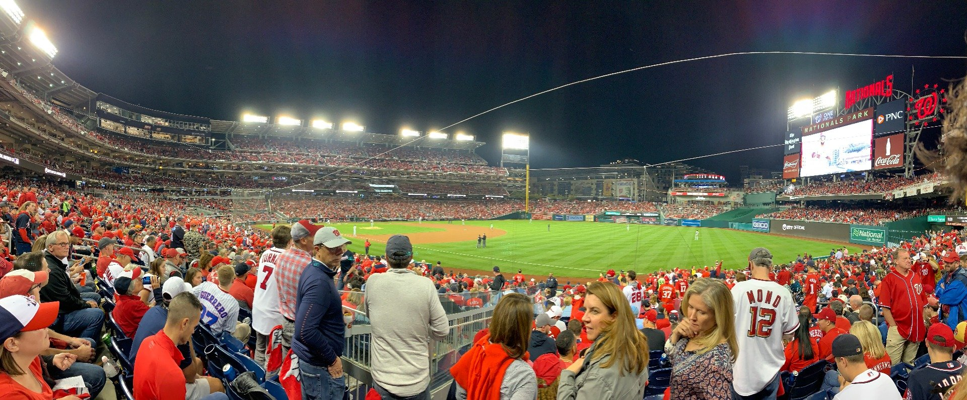 Nationals Park Section 134 Row AA Seat 12