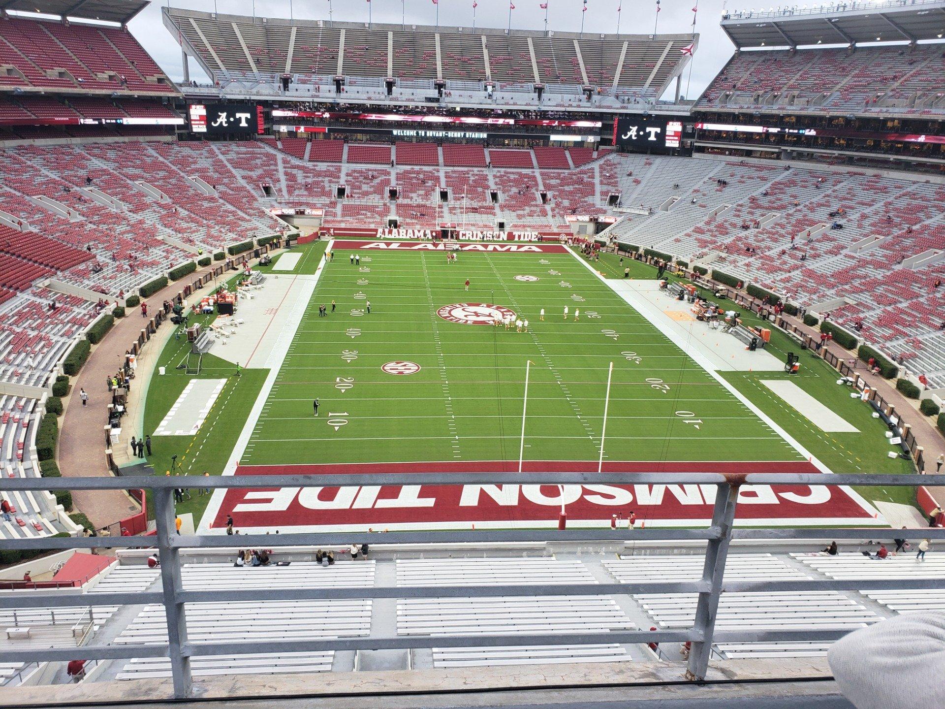 Bryant-Denny Stadium Section SS-8 Row 2 Seat 20