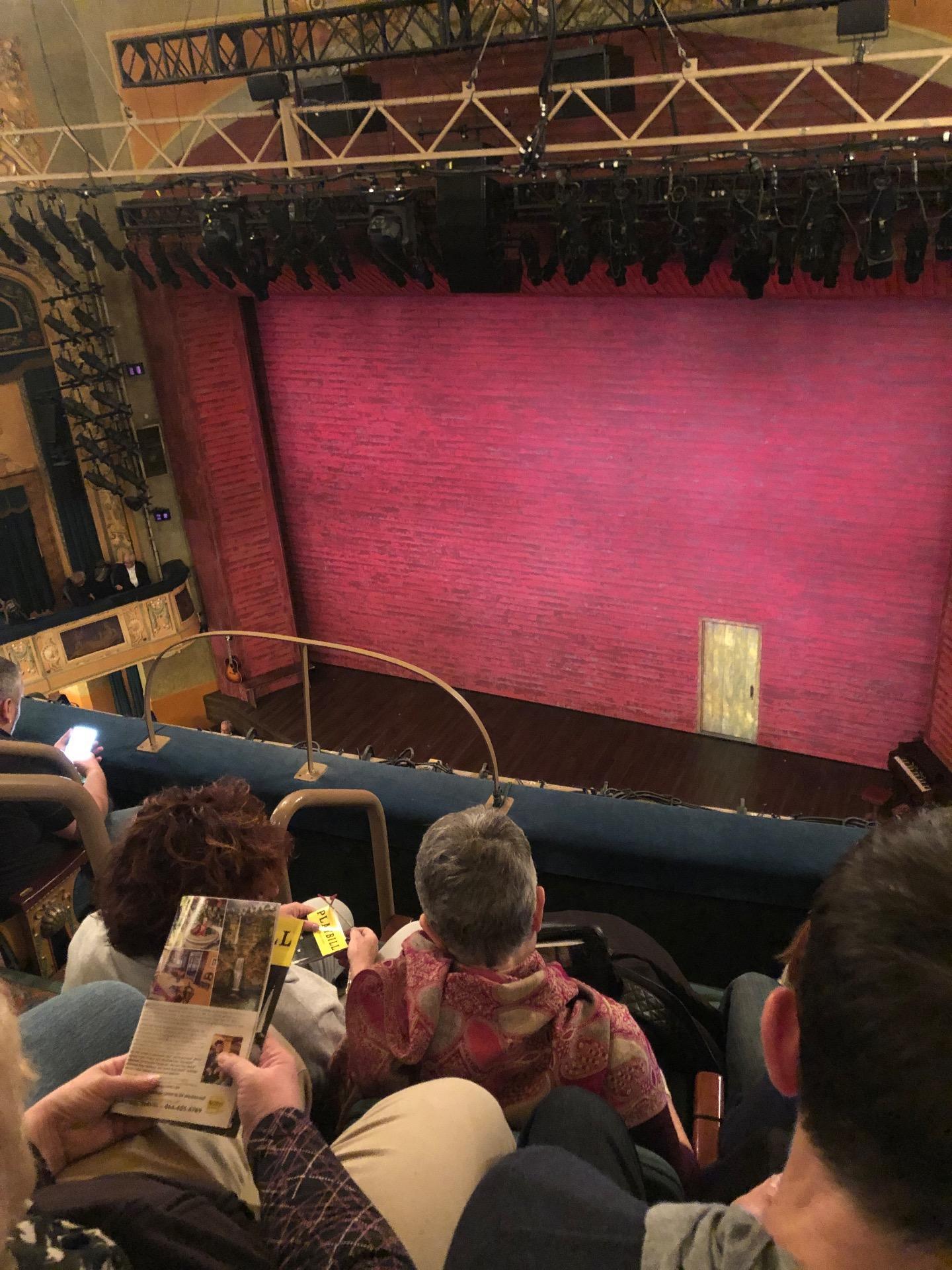 Shubert Theatre Section Balcony R Row D Seat 8