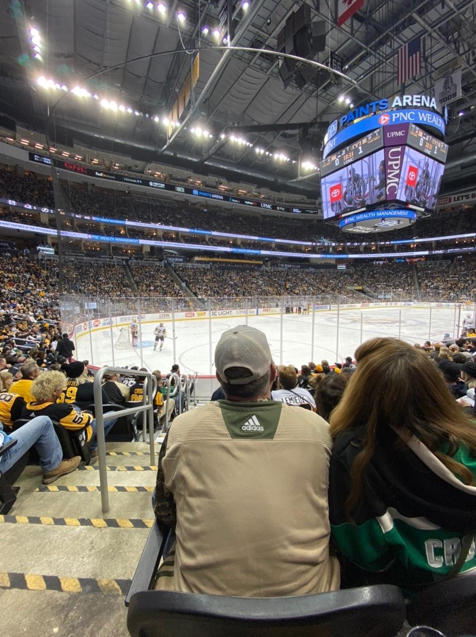 PPG Paints Arena Section 104 Row J Seat 26