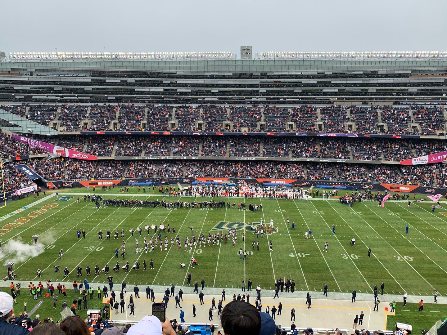 Soldier Field Section 437 Row 4 Seat 9