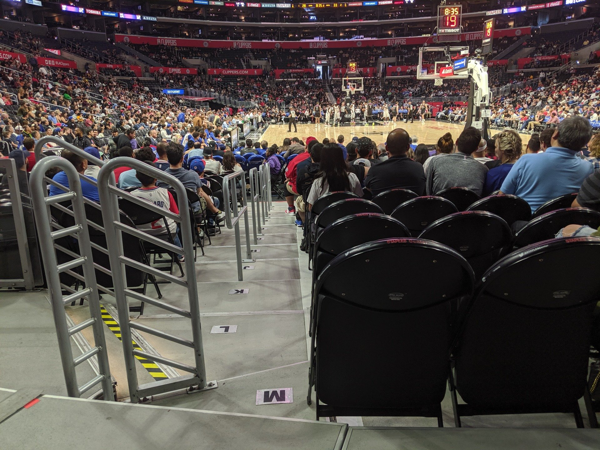 Staples Center Section 115 Row 3 Seat 10