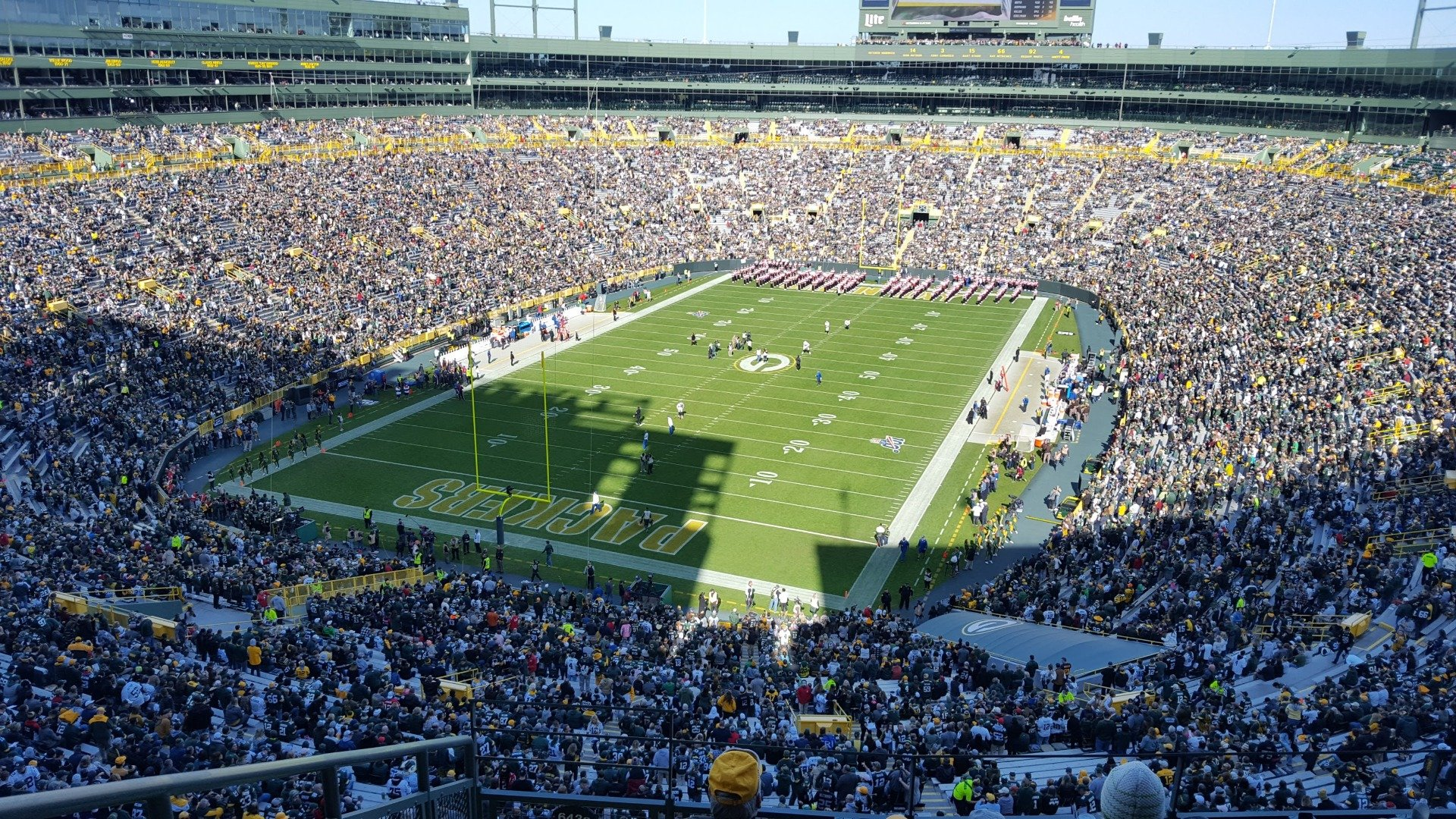 Lambeau Field Section 643S Row 6 Seat 16