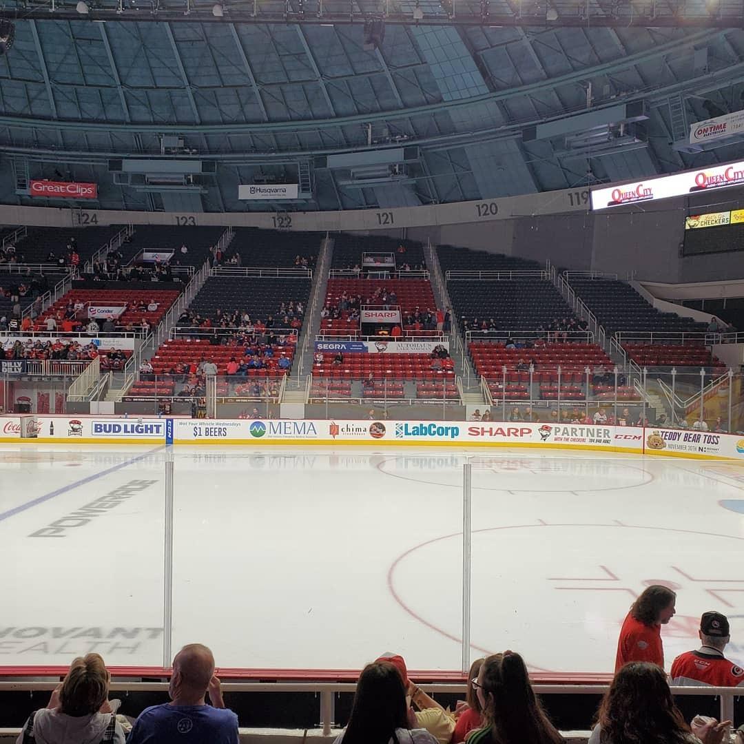 Bojangles' Coliseum Section 110 Row F Seat 10