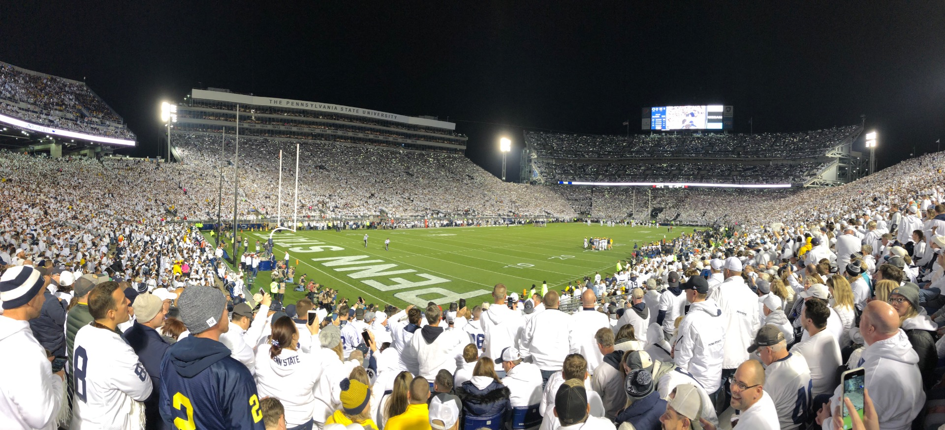 Beaver Stadium Section NB Row 23 Seat 15