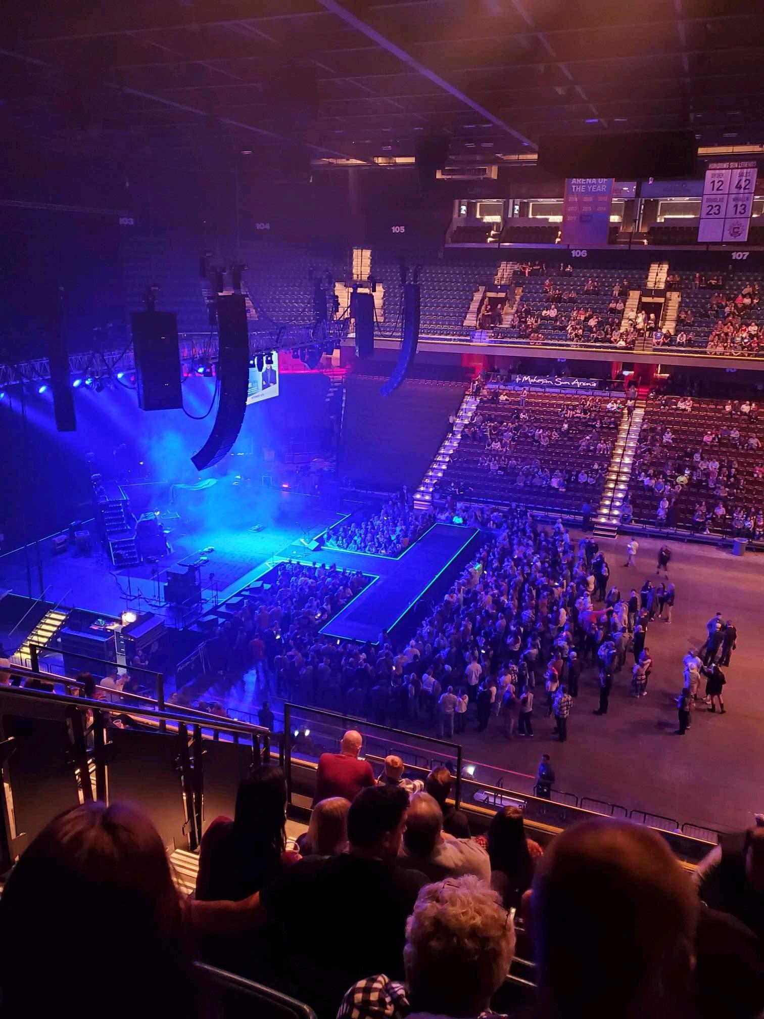 Mohegan Sun Arena Section 117 Row j Seat 15