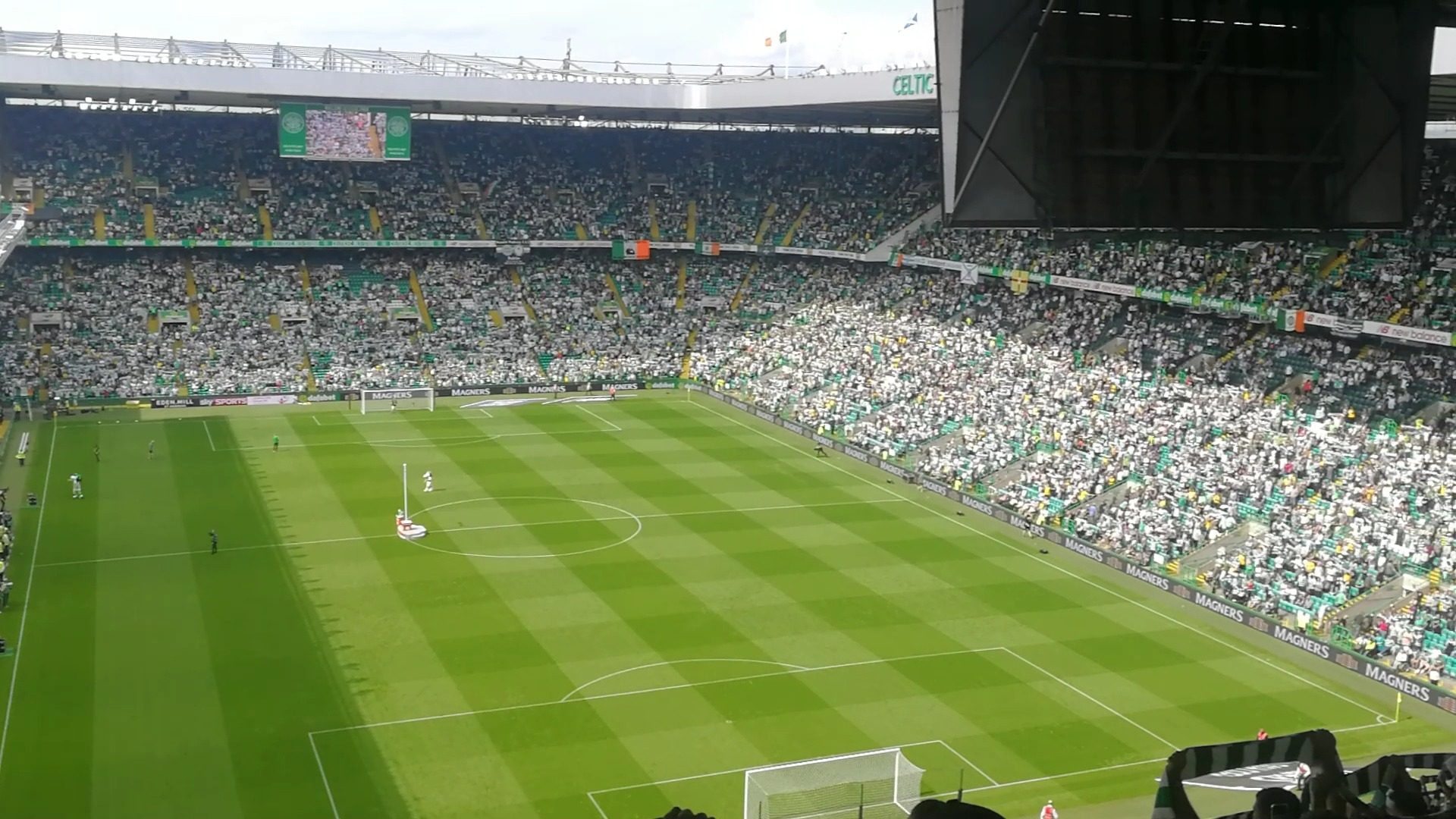 Celtic Park Section 418 Row y Seat 22