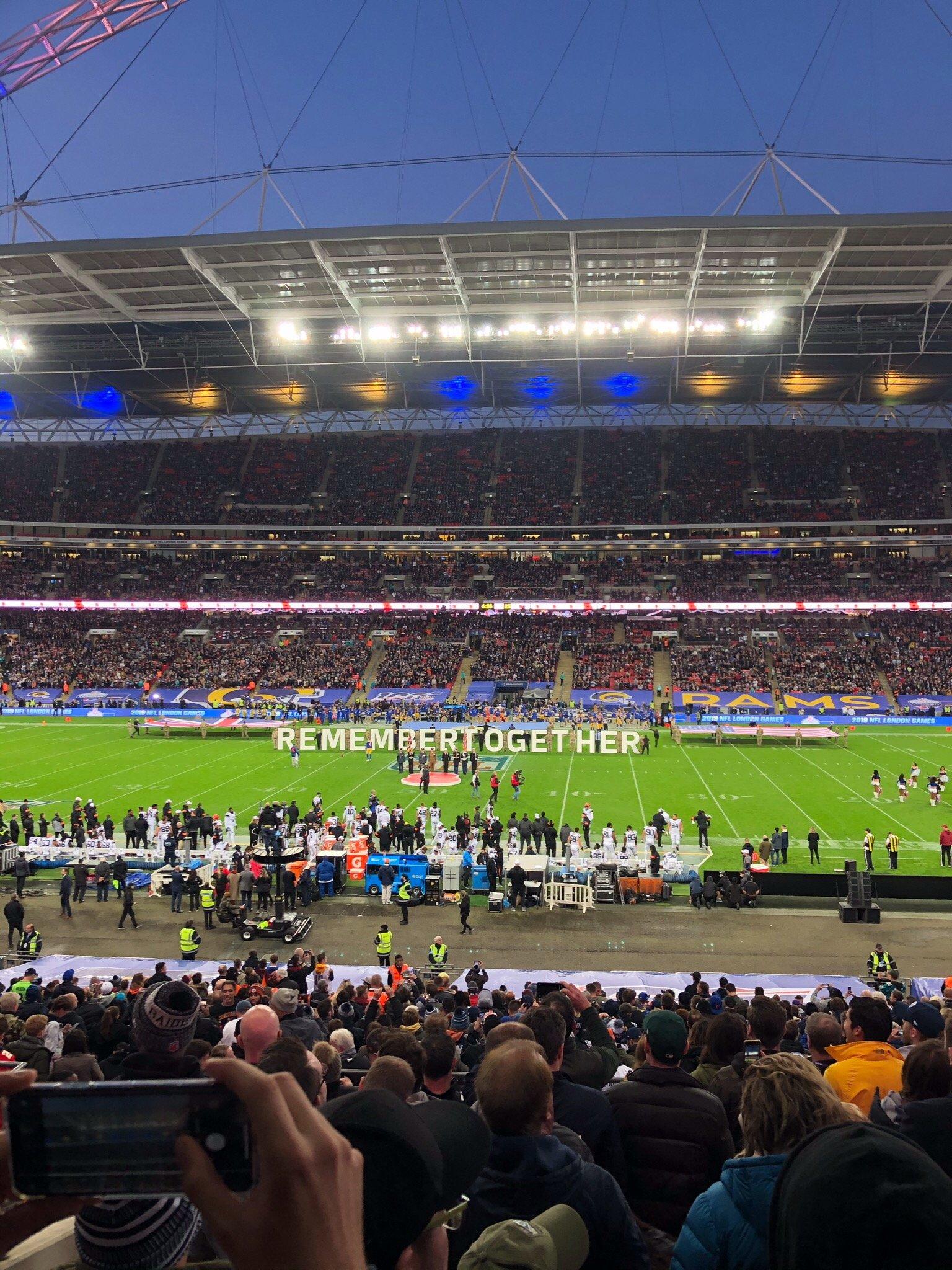 Wembley Stadium Section 122 Row 39 Seat 298