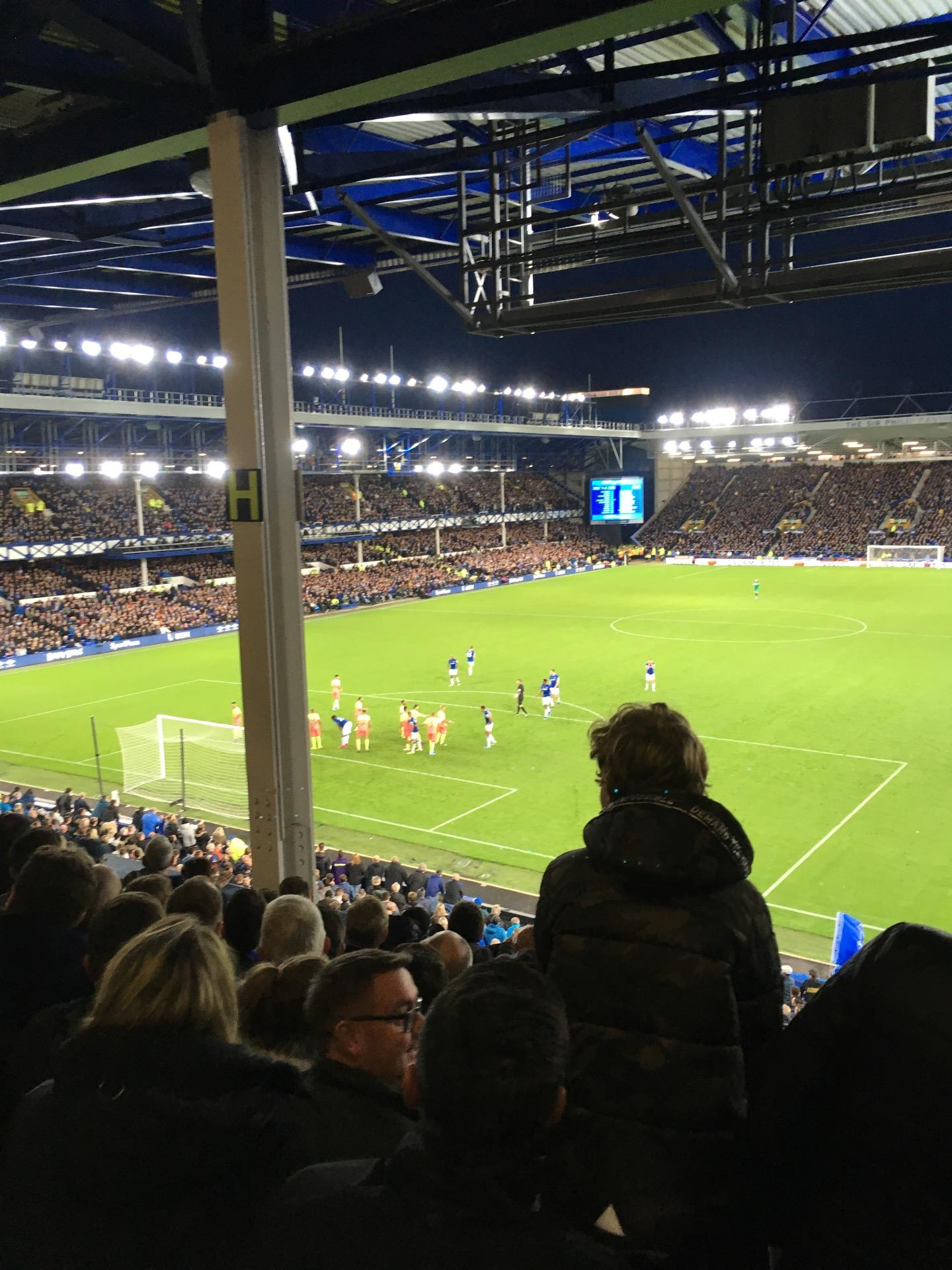 Goodison Park Section GS1 Row H Seat 38