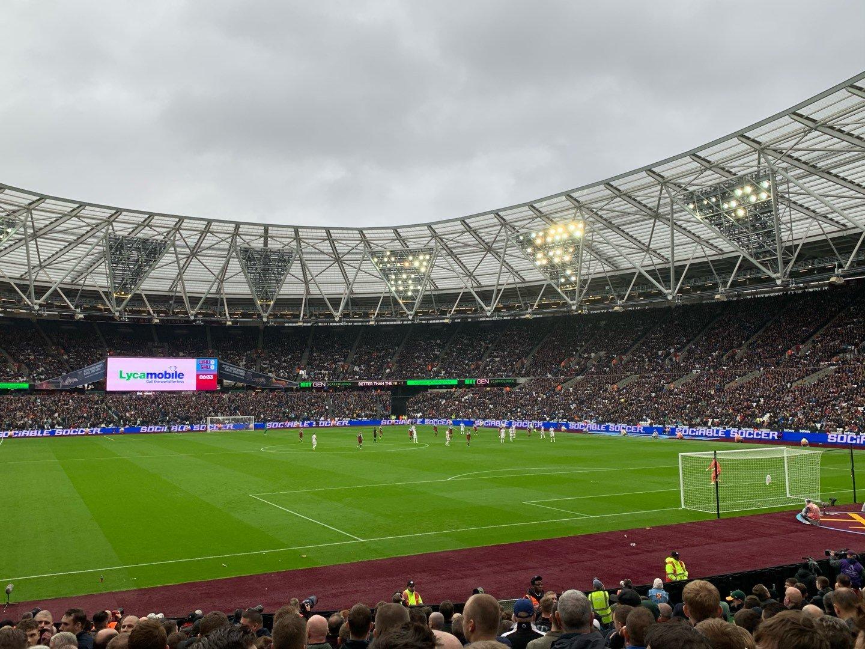 London Stadium Section 118 Row 18 Seat 107