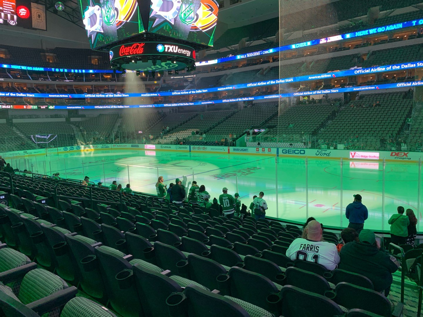 American Airlines Center Section 104 Row N Seat 1