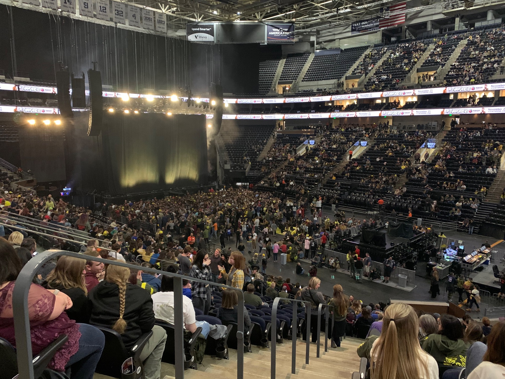 Vivint Arena Section 4 Row 25 Seat 21