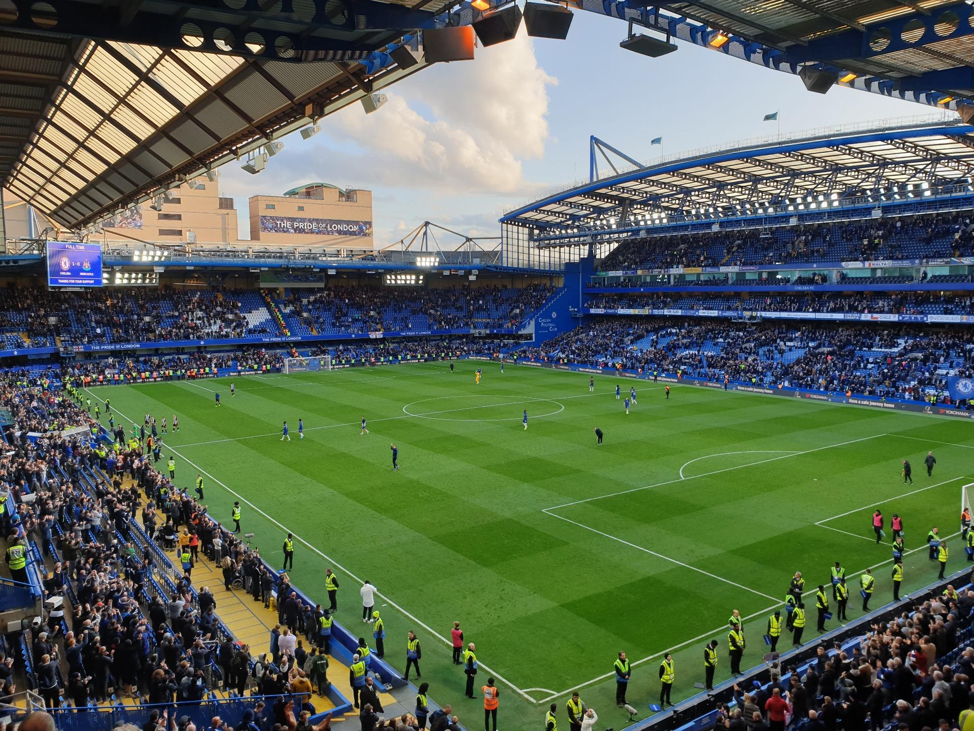 Stamford Bridge Section Matthew Harding Upper 16 Row H Seat 179