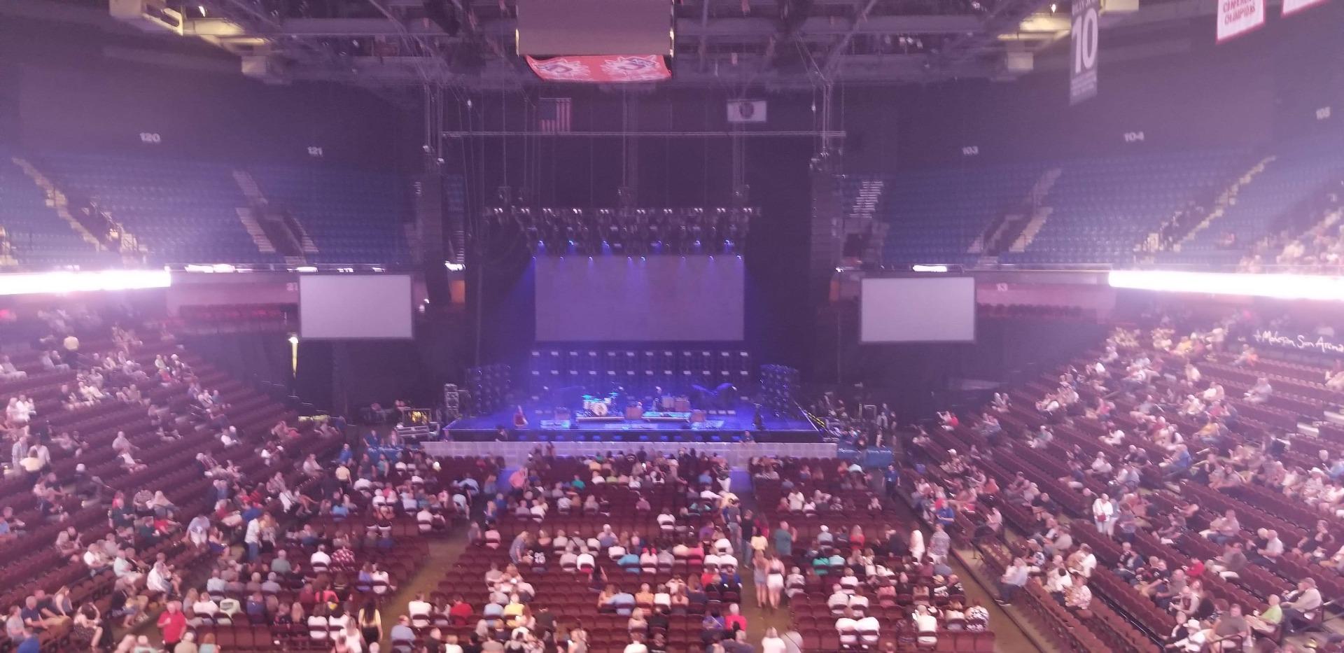 Mohegan Sun Arena  Section 112 Row A Seat 7