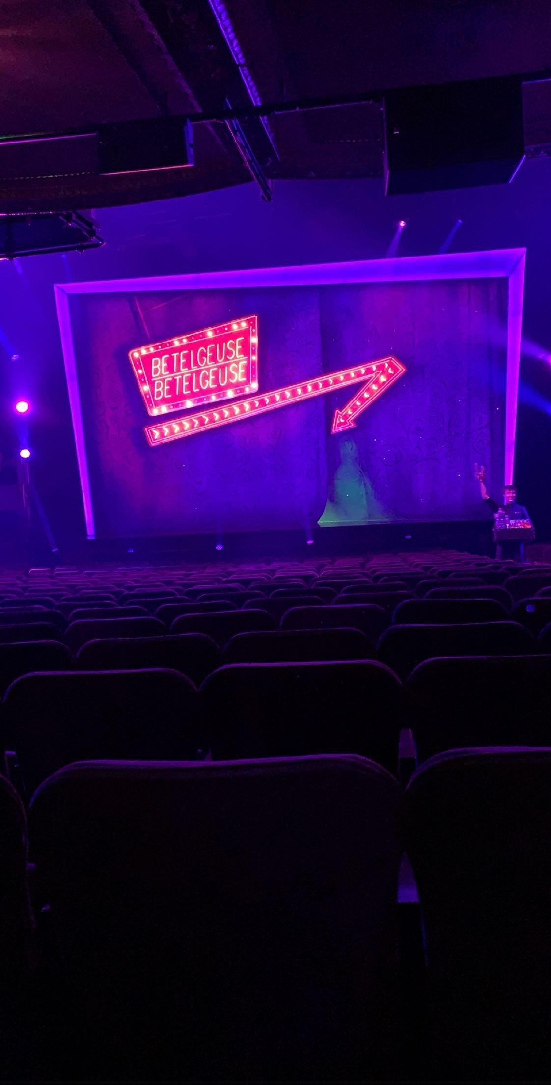 Winter Garden Theatre Section Orchestra C Row U Seat 104