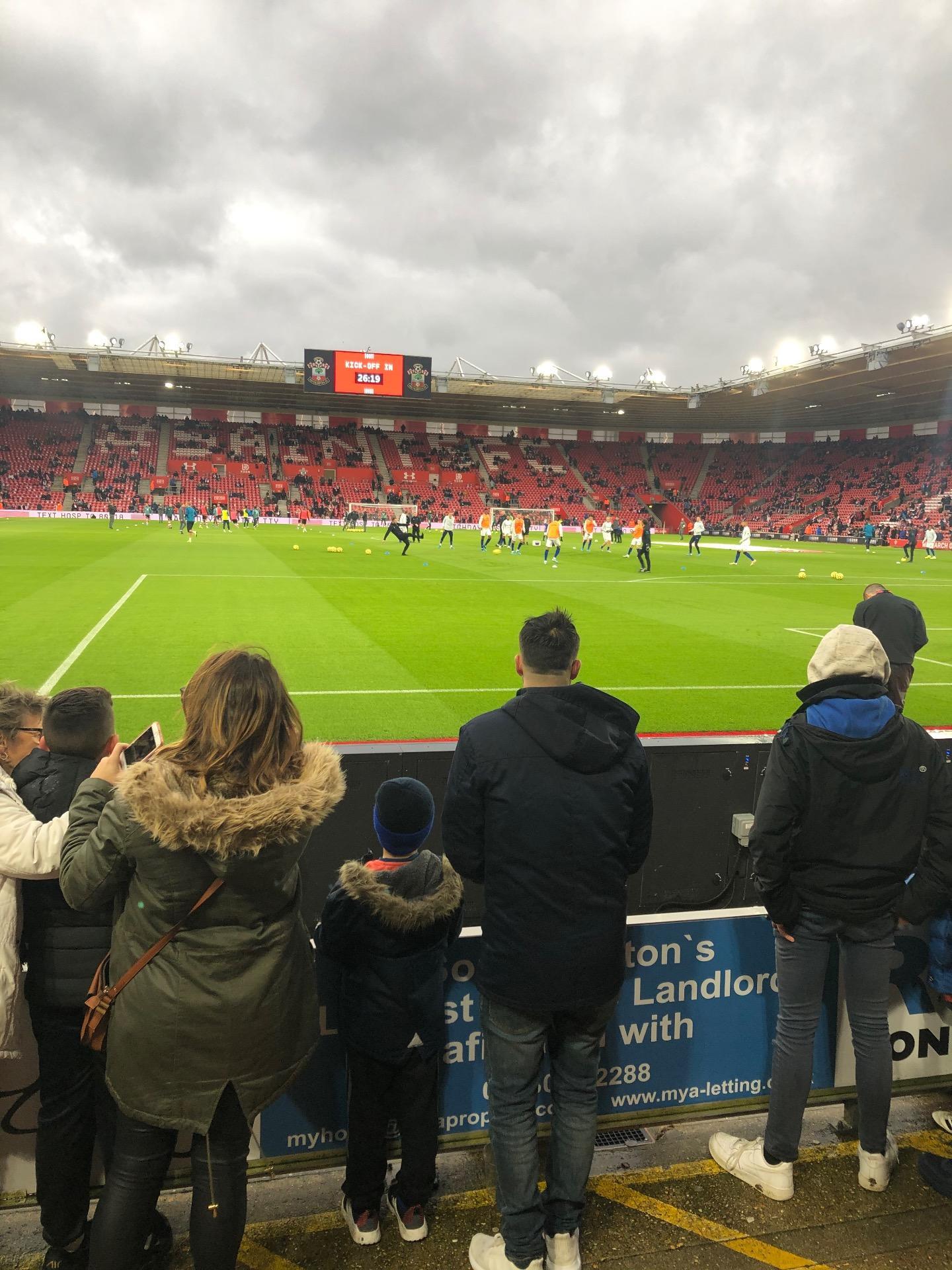 St Mary's Stadium Section 44 Row C Seat 1150