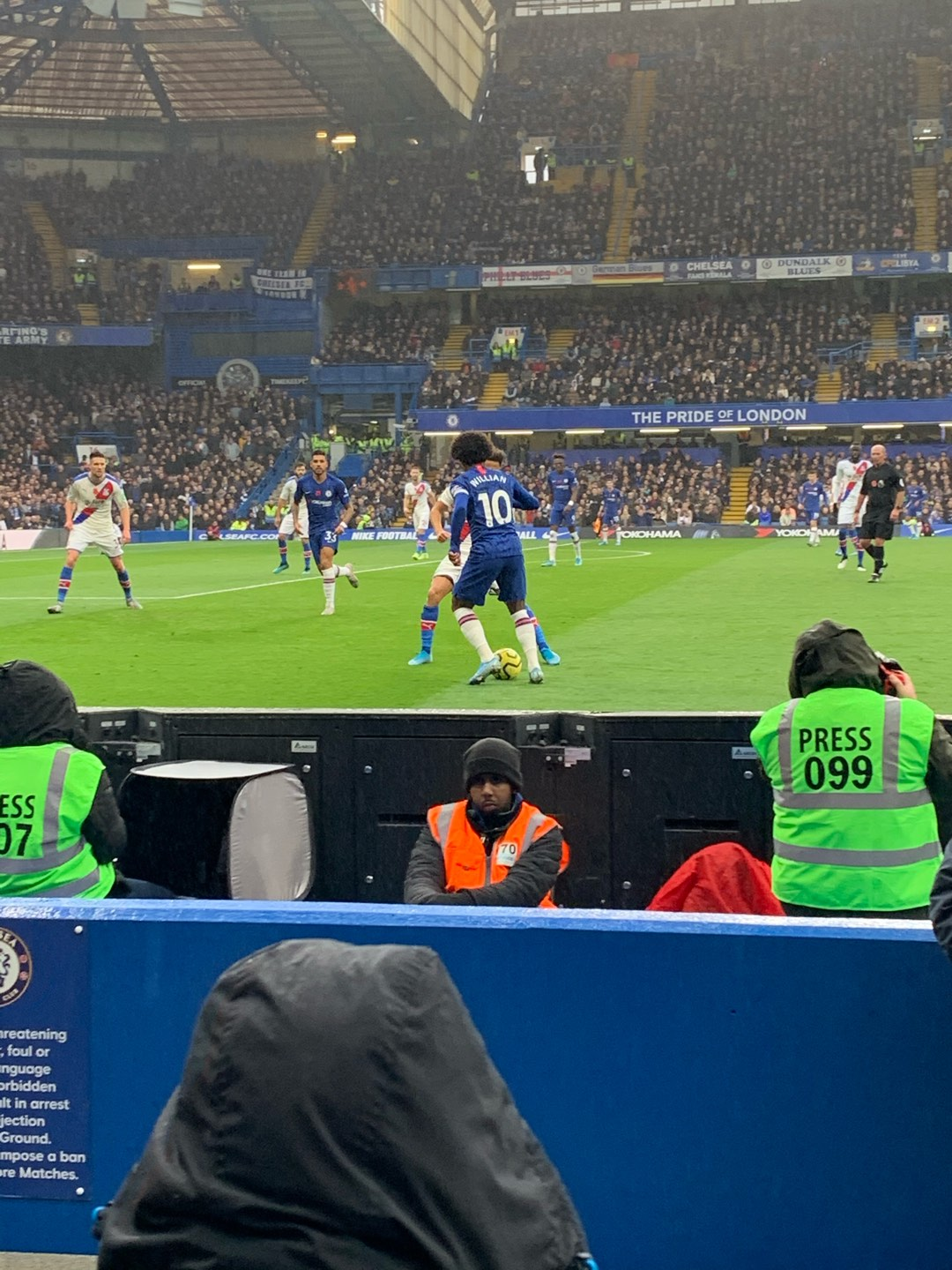 Stamford Bridge Section West Stand Lower 7 Row 4 Seat 166