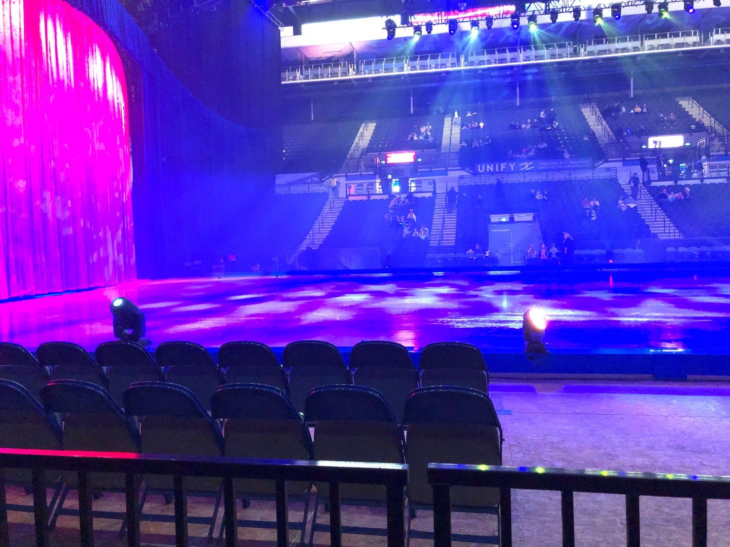 Sheffield Arena Section 104 Row B Seat 1