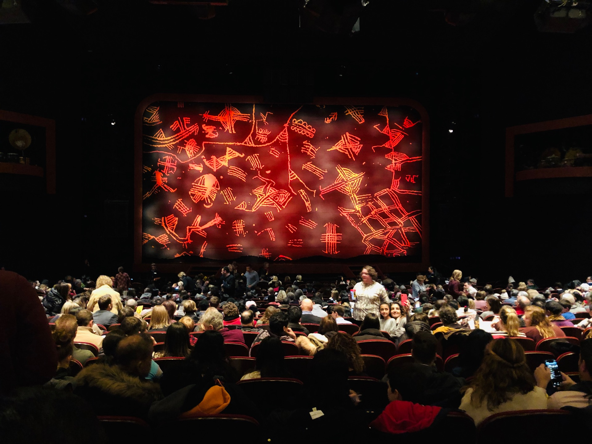 Minskoff Theatre Section Orchestra C Row X Seat 116