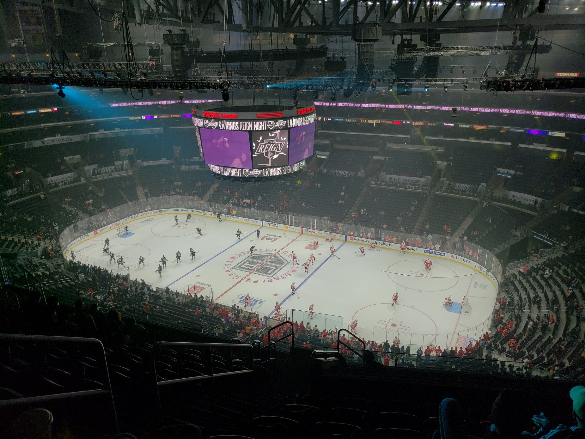 Staples Center Section 332 Row 12 Seat 19