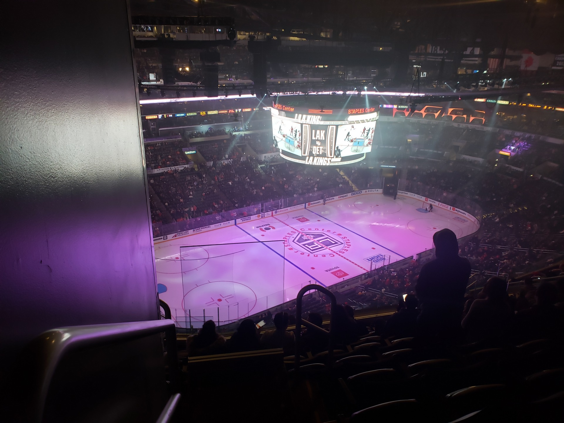 Staples Center Section 304 Row 15 Seat 25