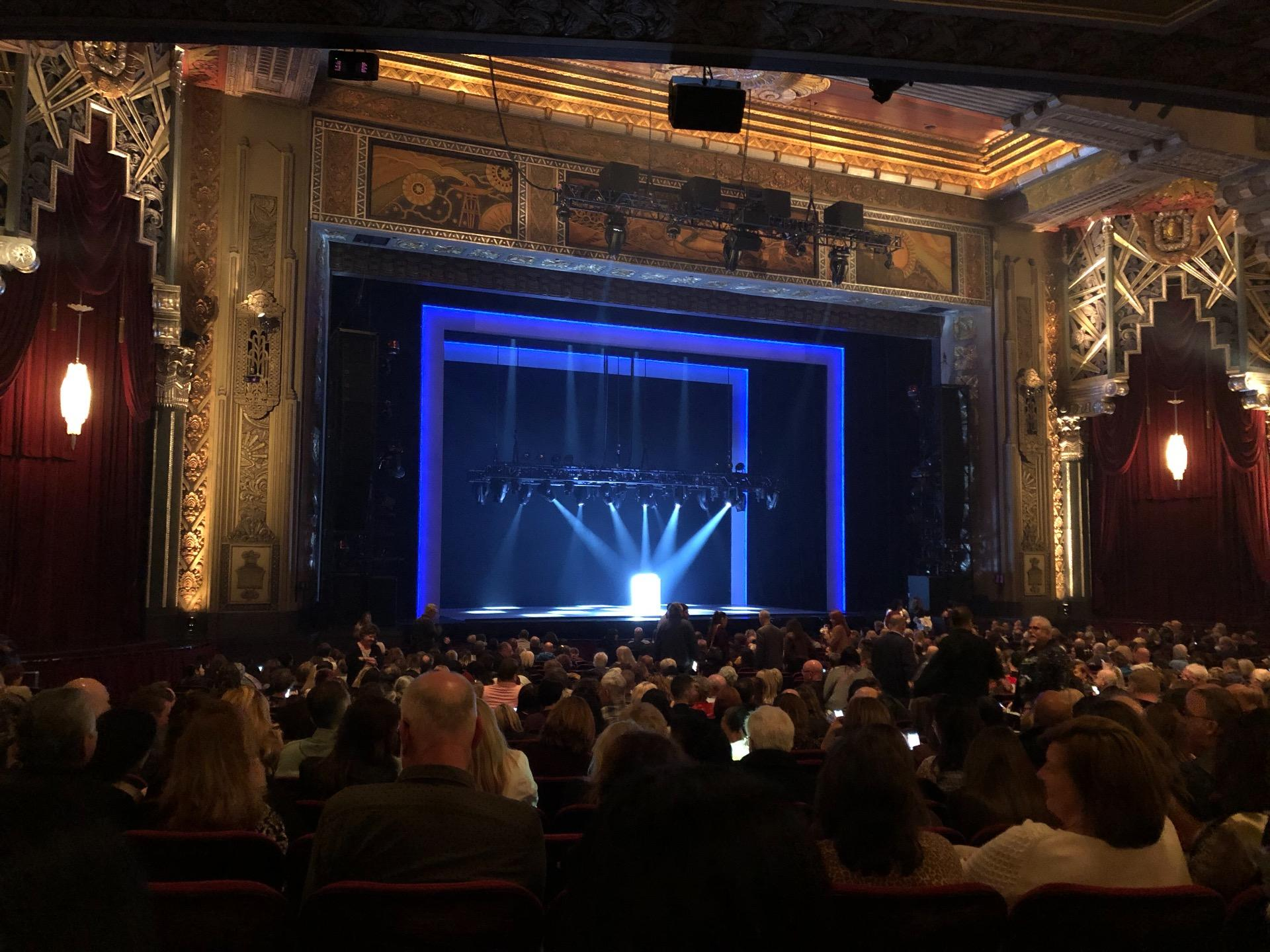 Hollywood Pantages Theatre Section Orchestra LC Row PP Seat 313