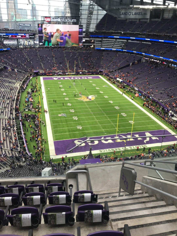 U.S. Bank Stadium Section 328 Row 6 Seat 2
