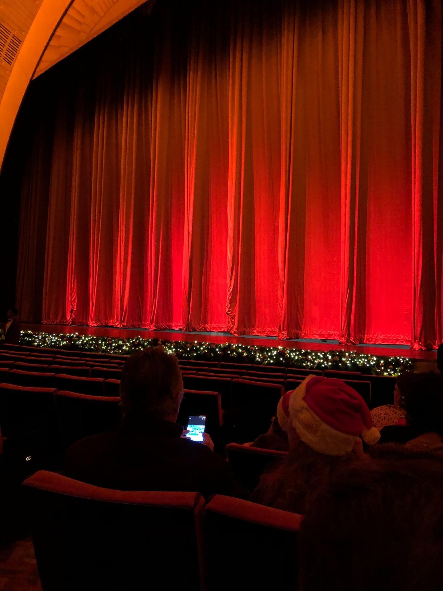 Radio City Music Hall Section Orchestra 2 Row KK Seat 211