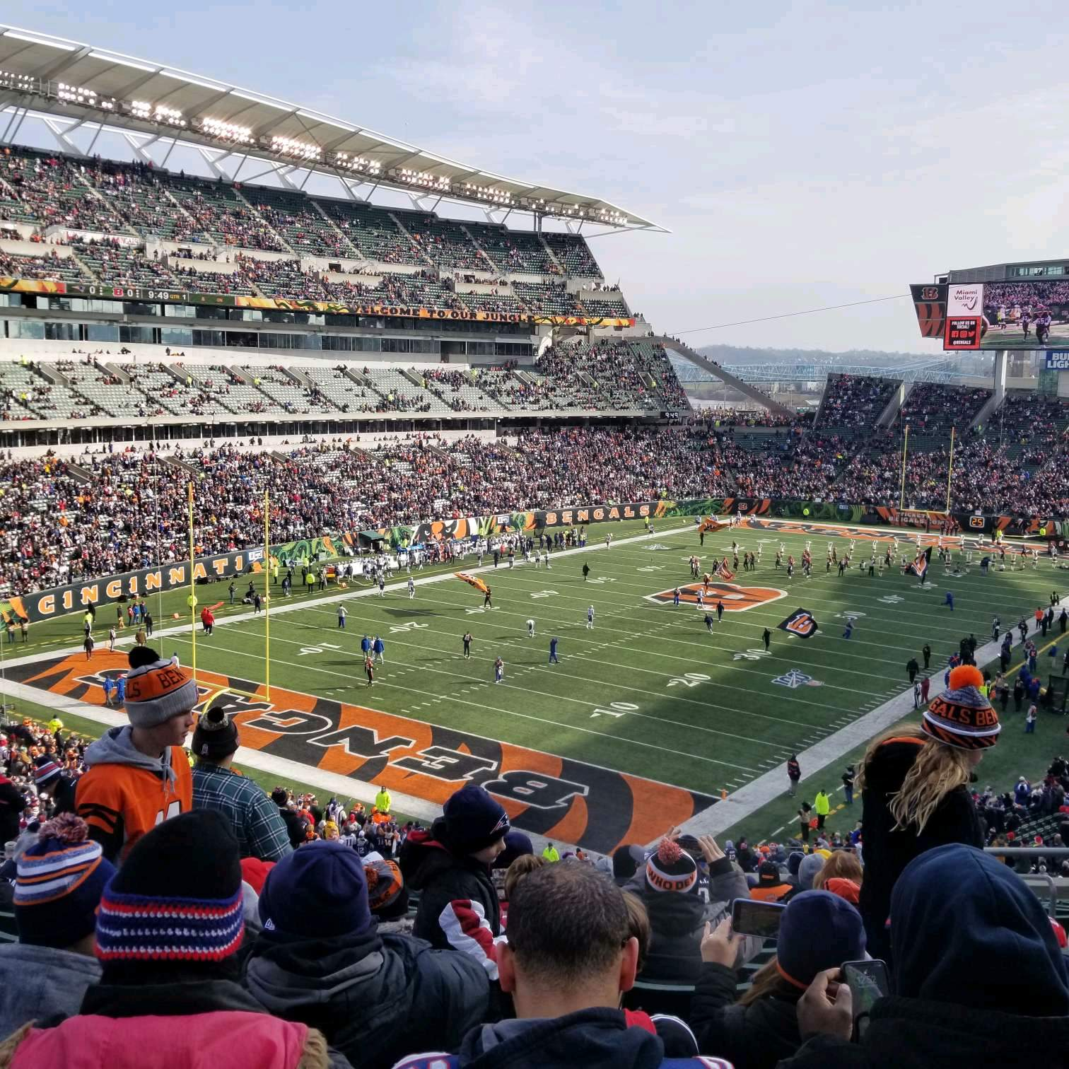Paul Brown Stadium Section 220 Row 17 Seat 5