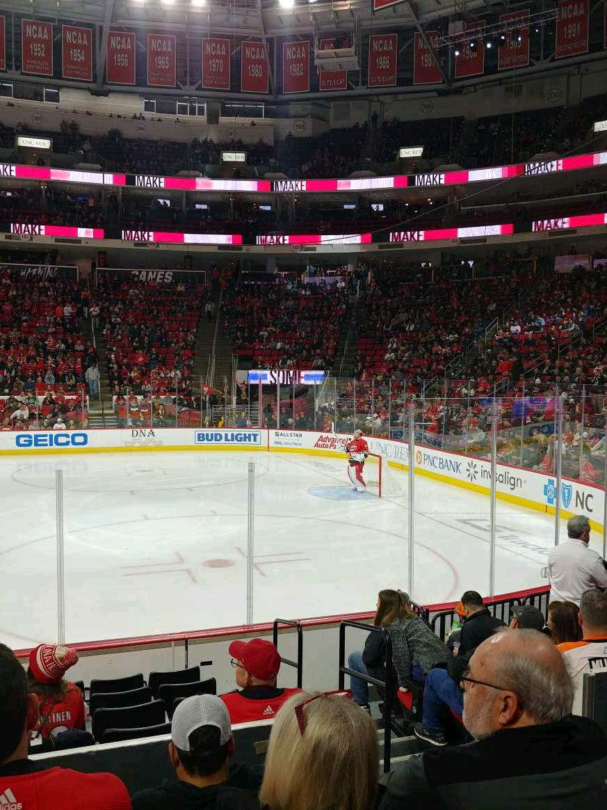 PNC Arena Section 102 Row J Seat 3