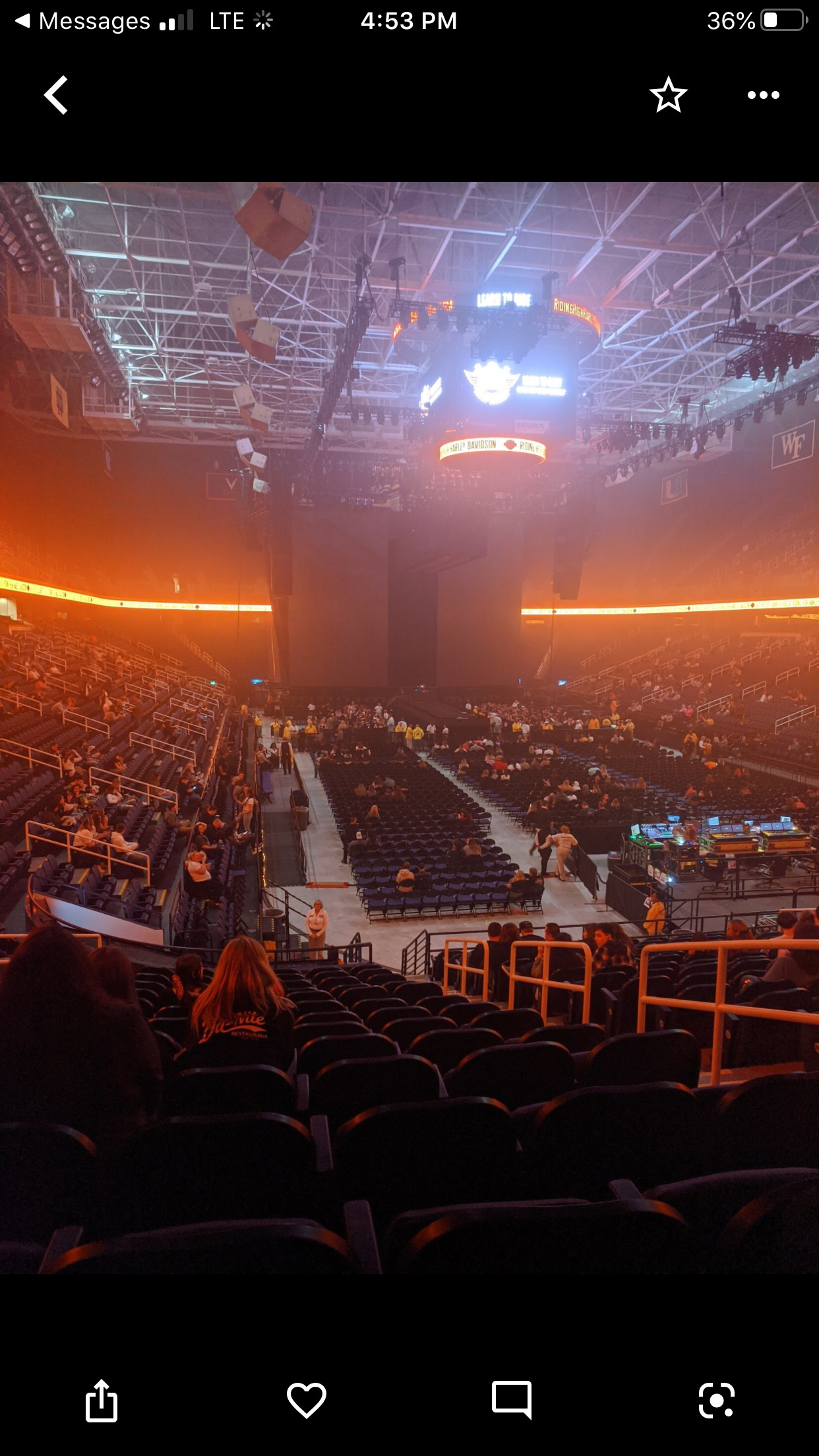 Greensboro Coliseum Section 115 Row SS Seat 16