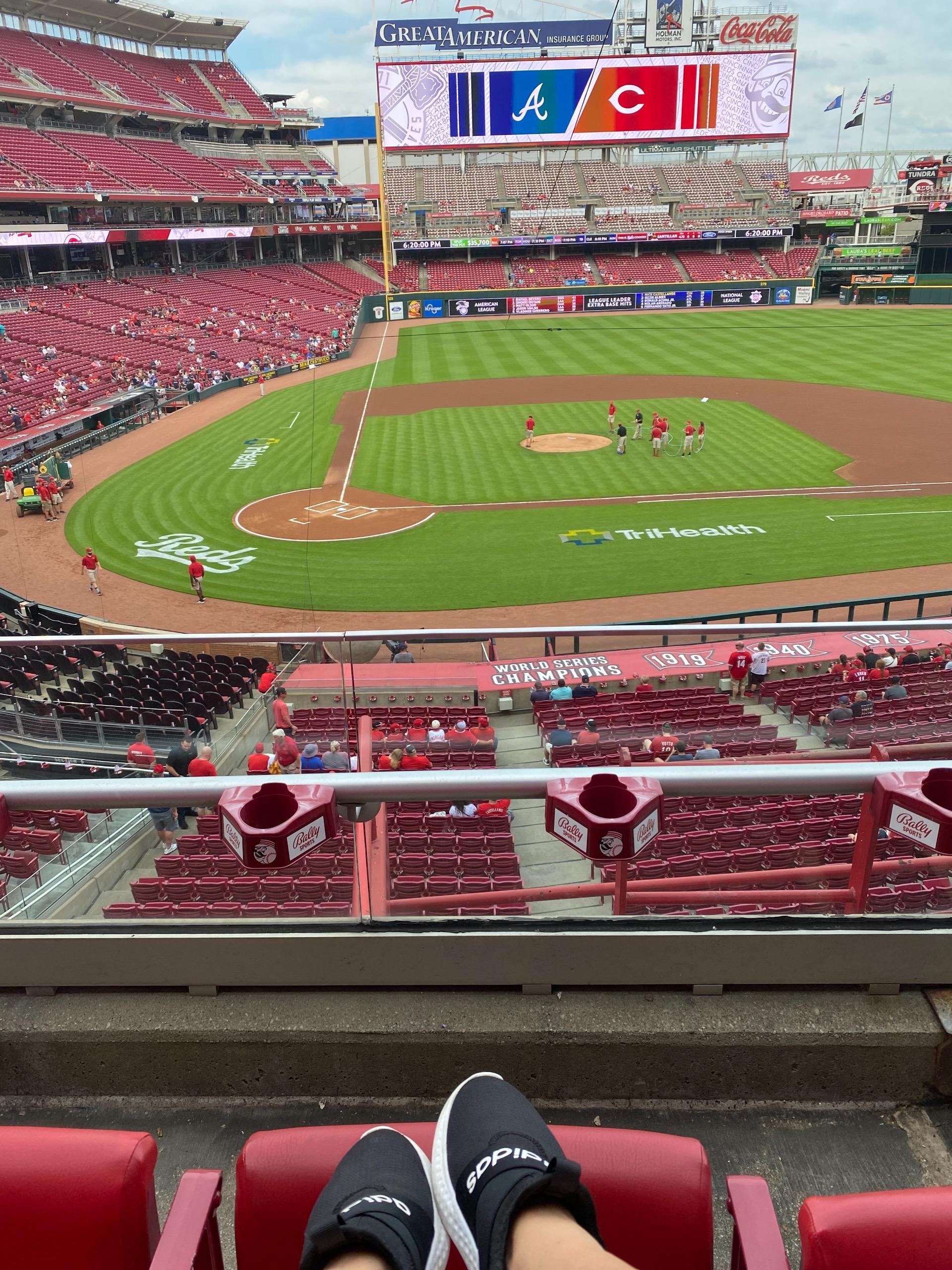 Great American Ball Park Section 228 Row B Seat 2