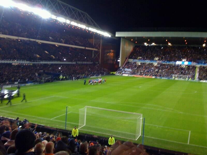 Ibrox Stadium Section CR2 Row aa Seat 063