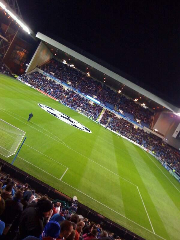 Ibrox Stadium Section copland road Row aa Seat 063