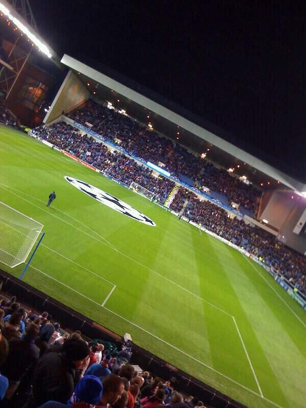 Ibrox Stadium Section CR2 Row aa Seat 0063