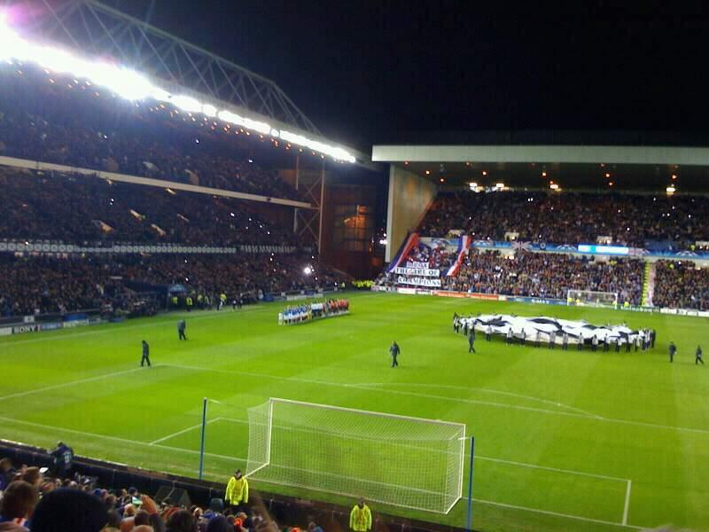 Ibrox Stadium Section copland stand Row aa Seat 0063
