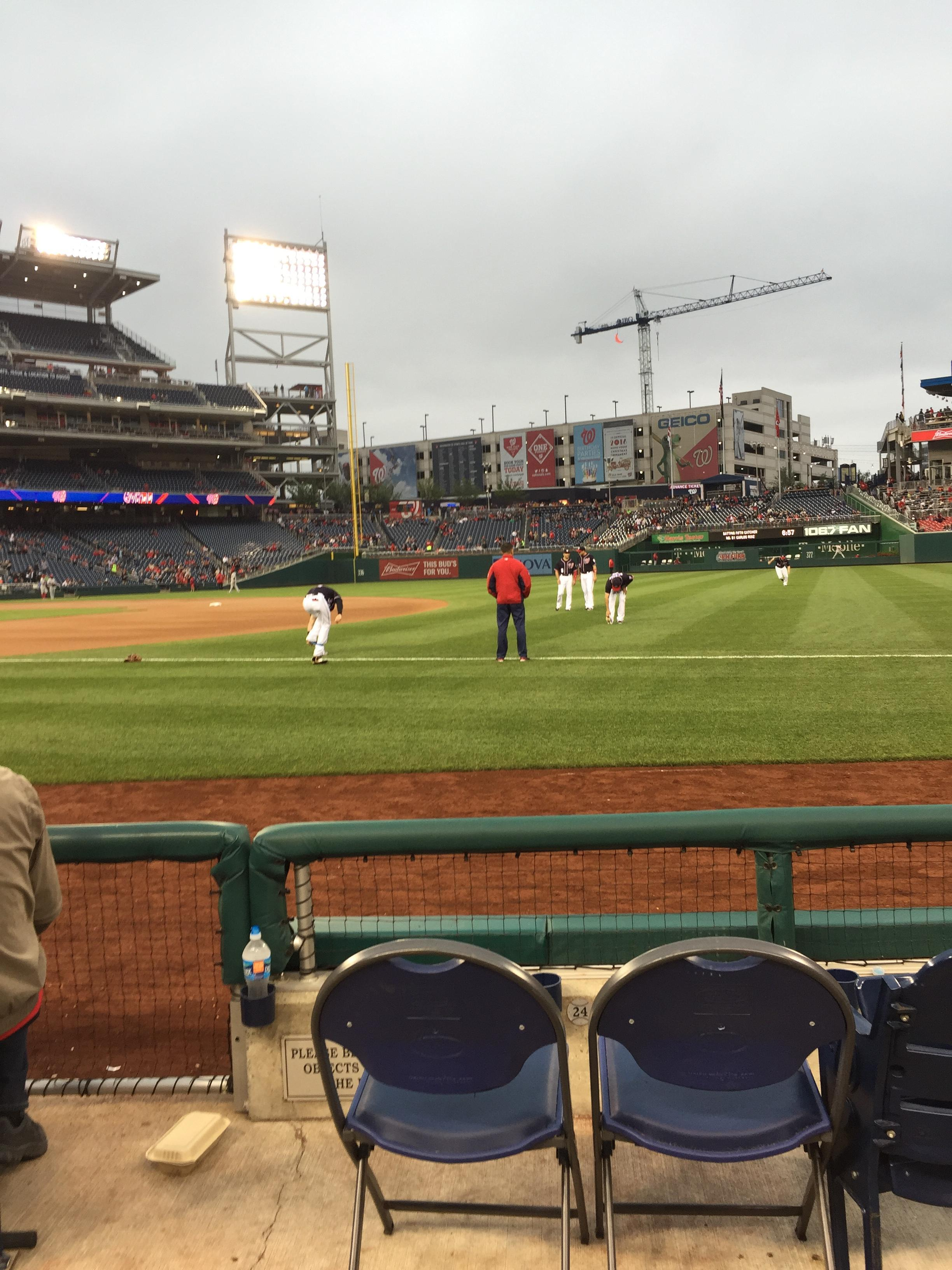 Nationals Park Section 133 Row D Seat 18