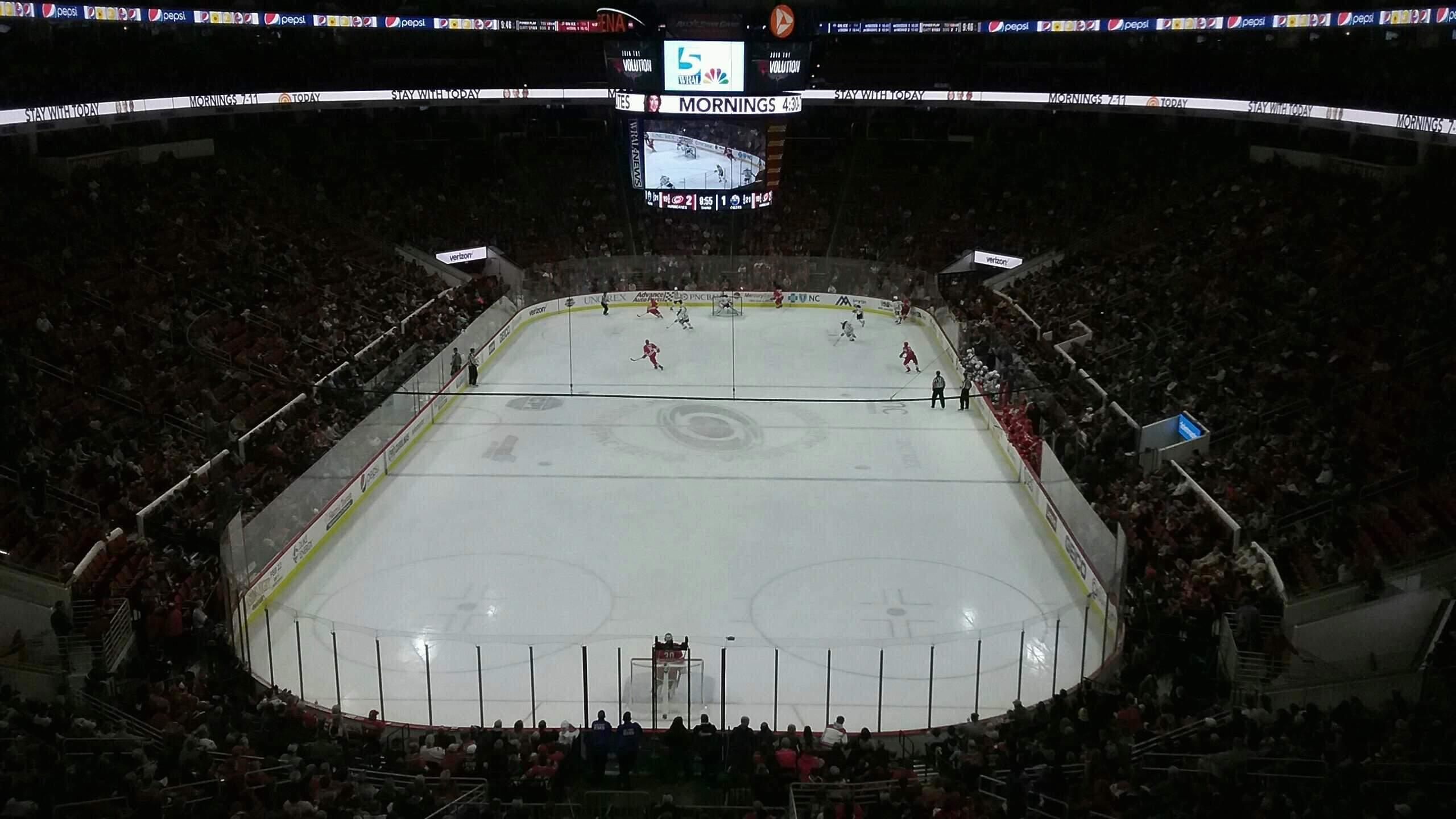PNC Arena Section 212 Row E Seat 4