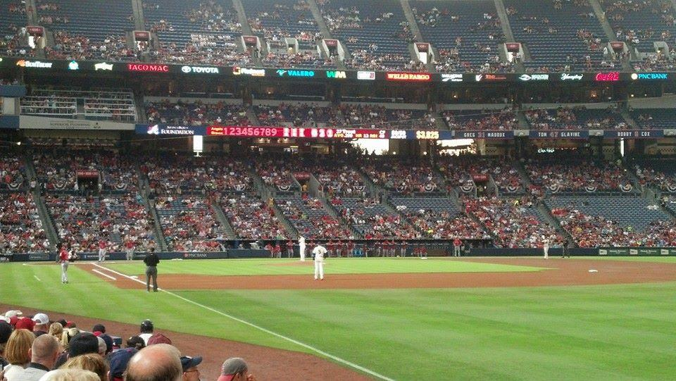 Turner Field Section 125L Row 9 Seat 103