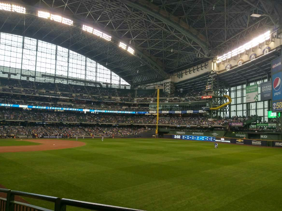 Miller Park Section 106 Row 26 Seat 15