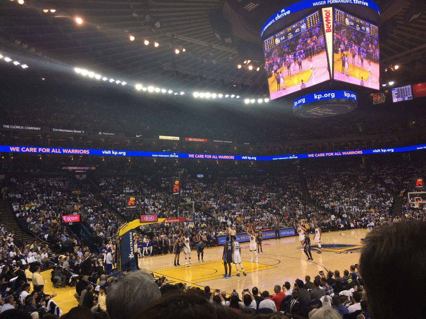 Oracle Arena Section 119 Row 7 Seat 5