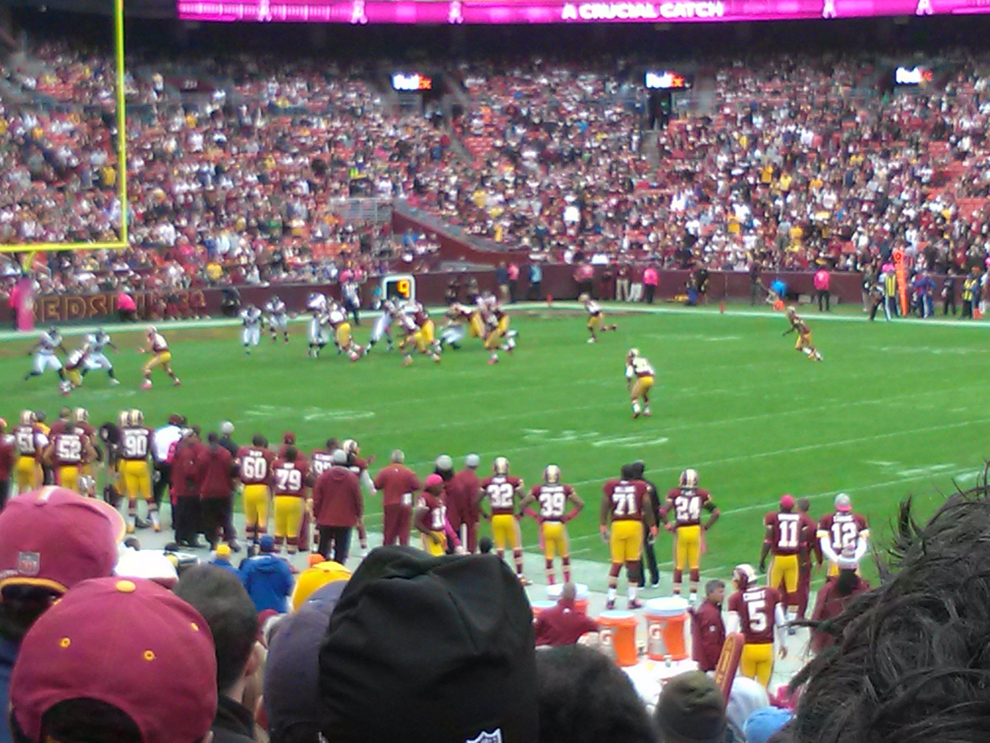 Seat View for FedExField Section 141, Row 17, Seat 8