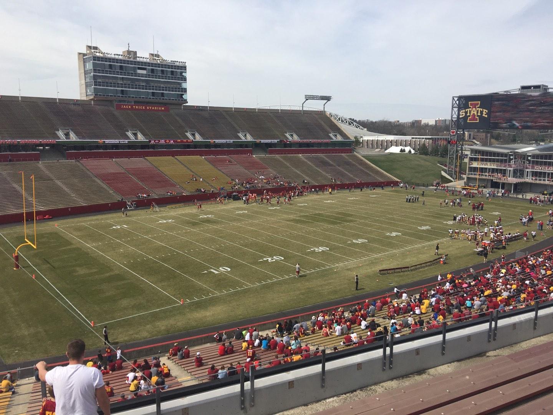 Jack Trice Stadium Section T Row 8 Seat 1