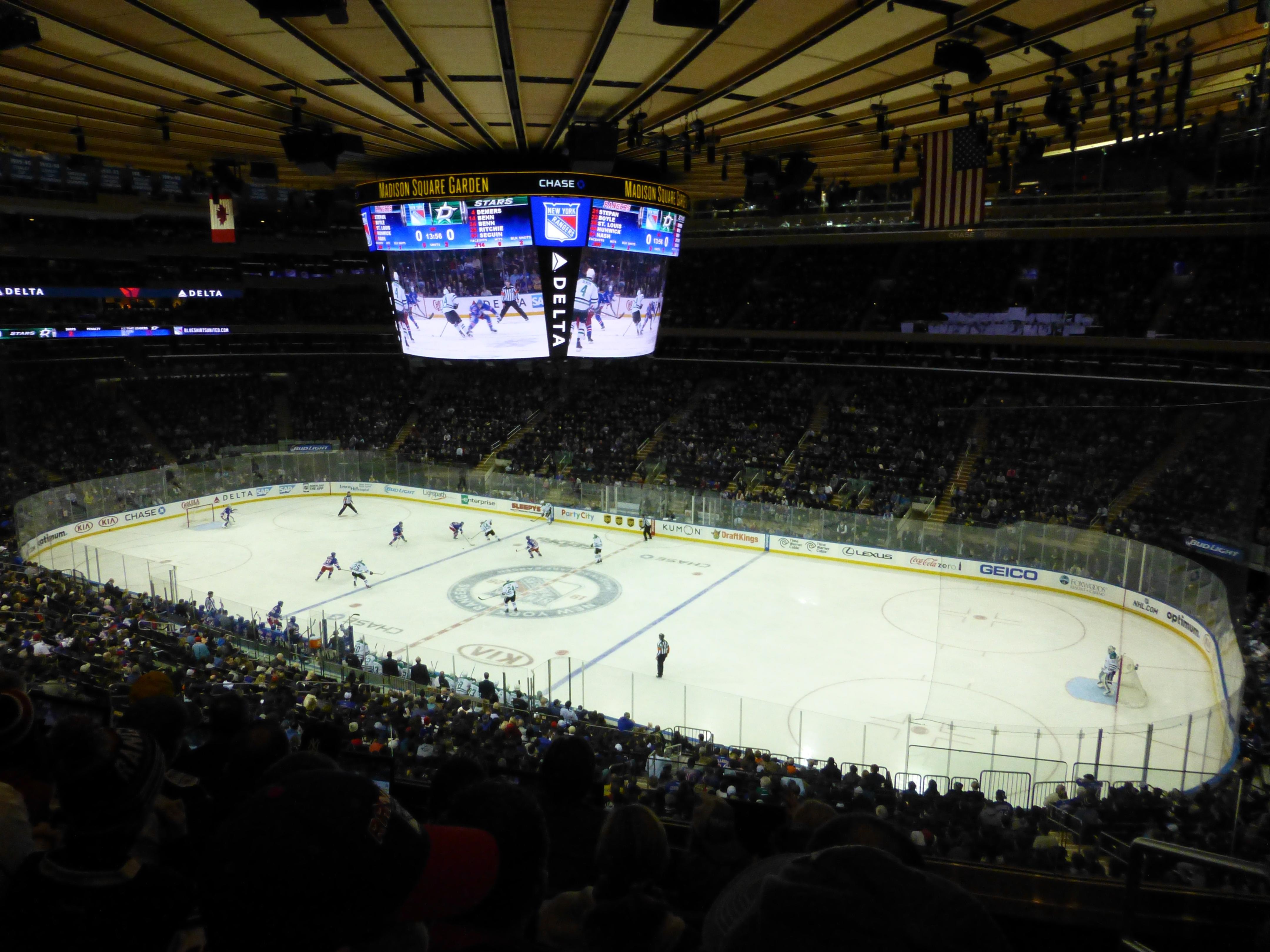 Madison Square Garden Section 213 Row 5 Seat 18 New York Rangers Vs Dallas Stars Shared By Avstars