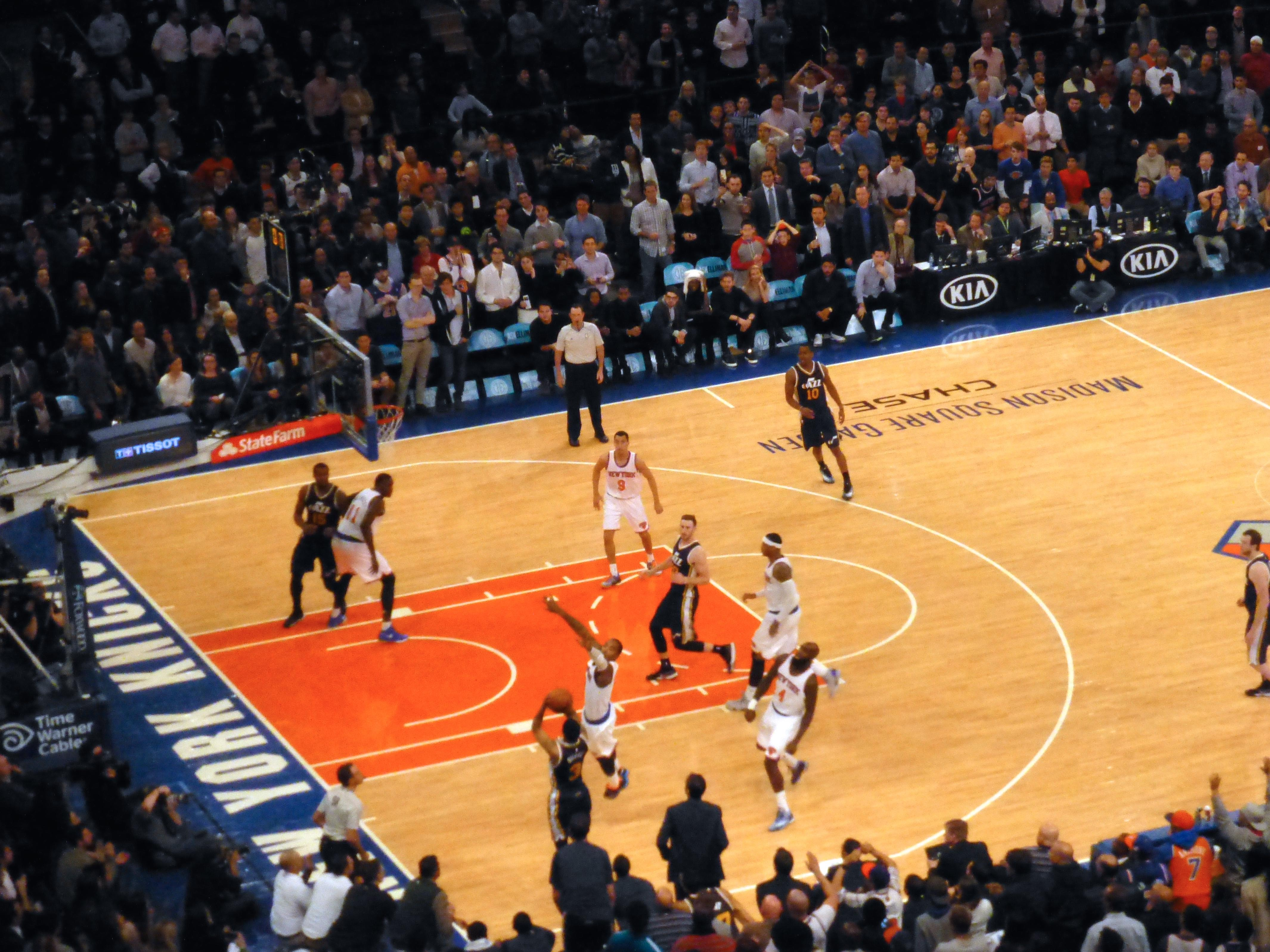 Madison Square Garden section 209 row 10 seat 1 - New York ...