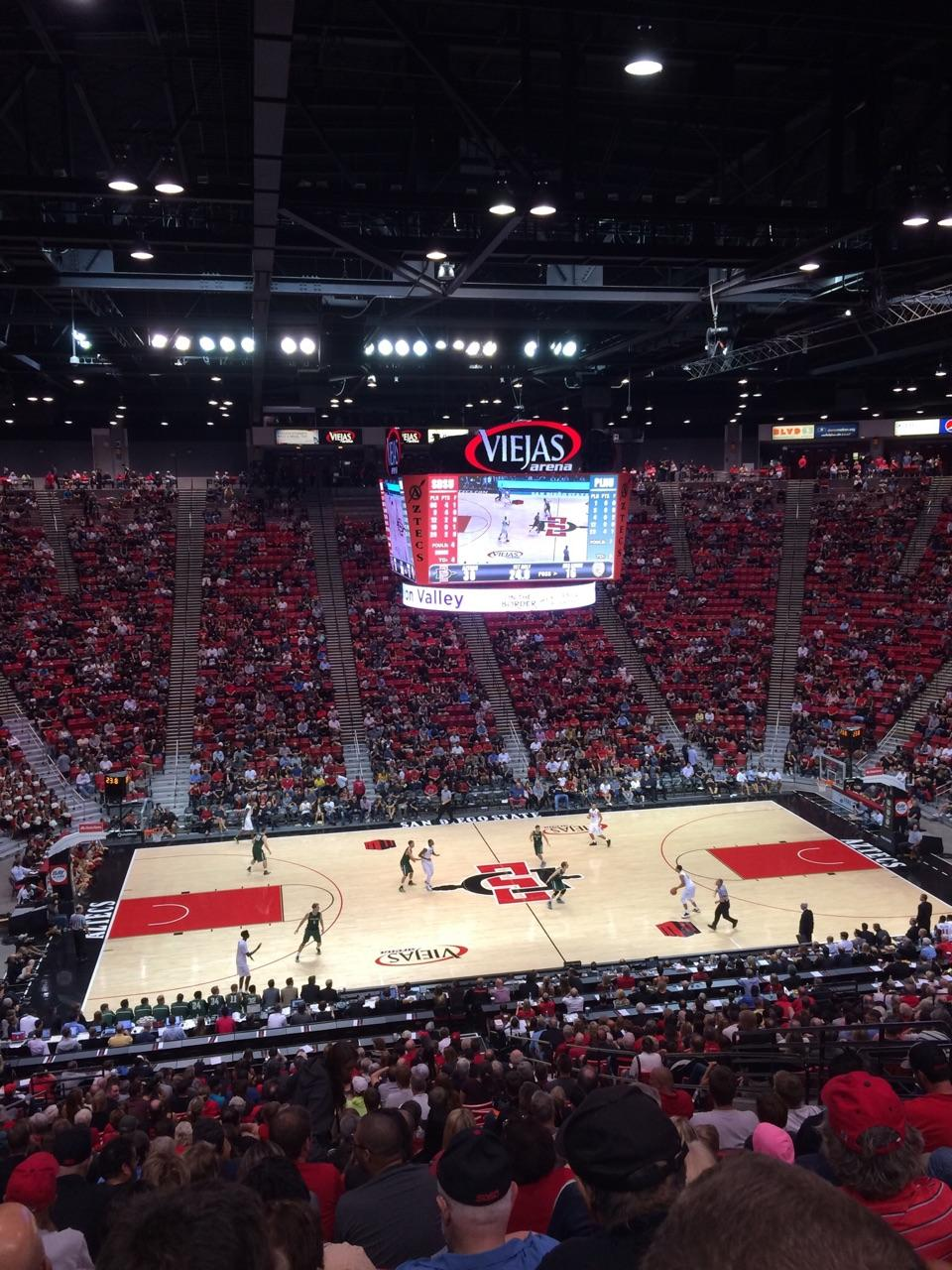 Viejas Arena Section P Row 33 Seat 12
