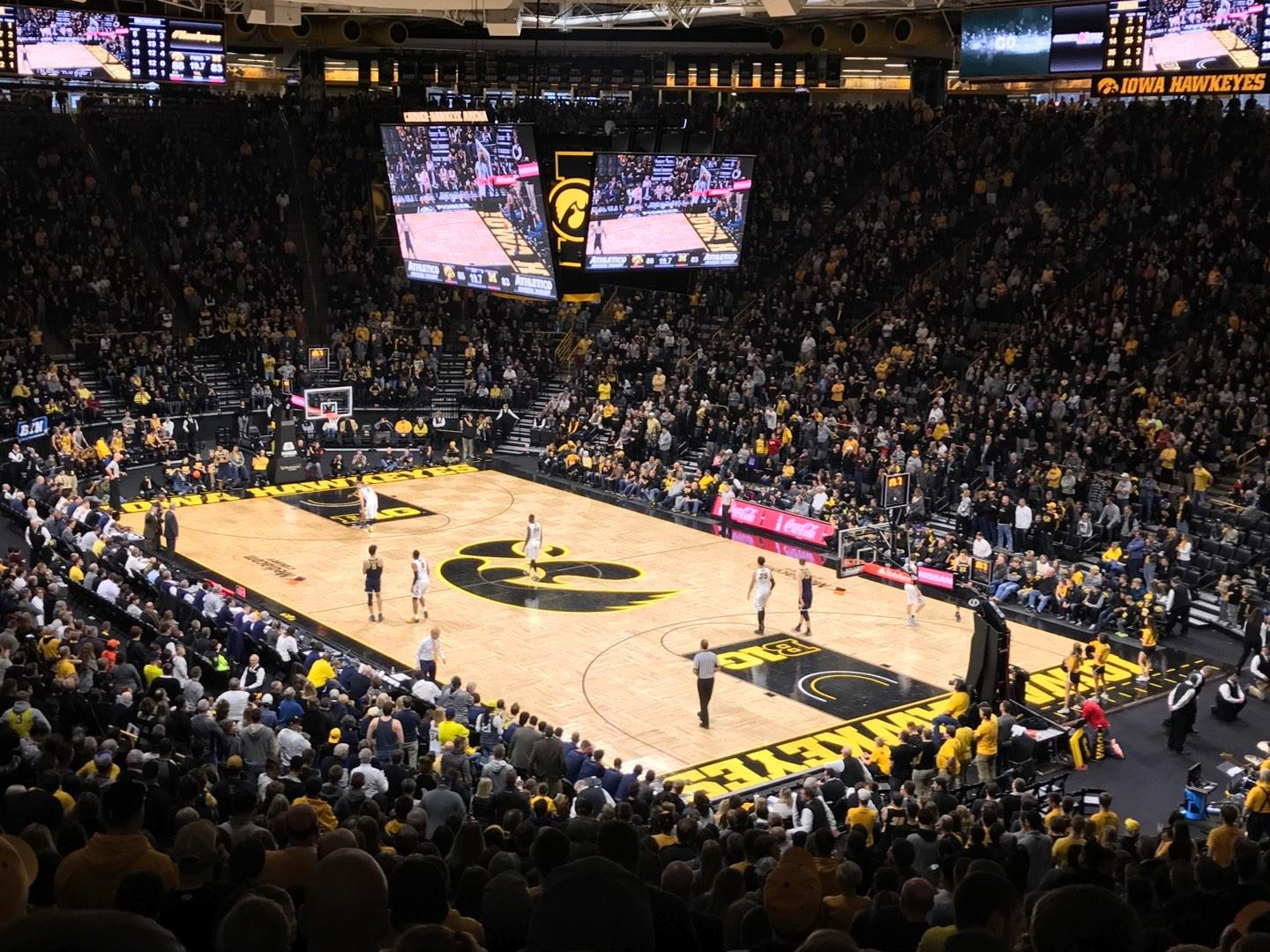 Carver-Hawkeye Arena Section E Row 32 Seat 5