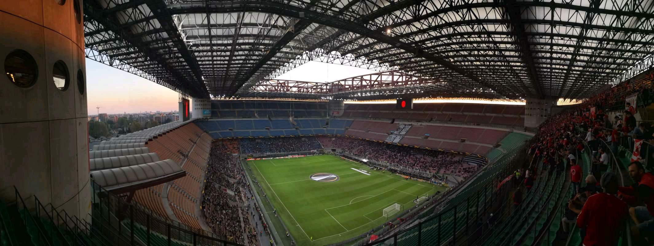 Stadio Giuseppe Meazza section 357 row 11 seat 5 - AC ...